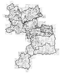 kartiertes Kreisgebiet (Stand Herbst 2004)