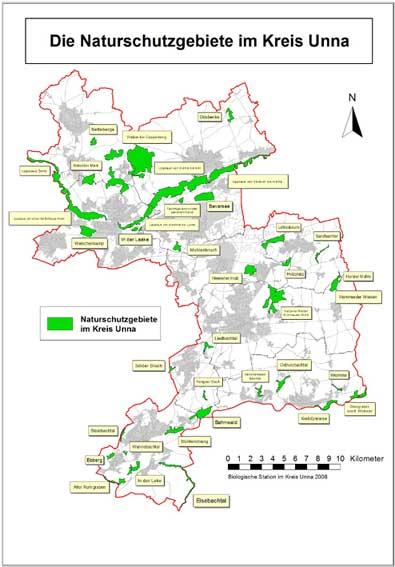 Naturschutzgebiete im Kreis Unna
